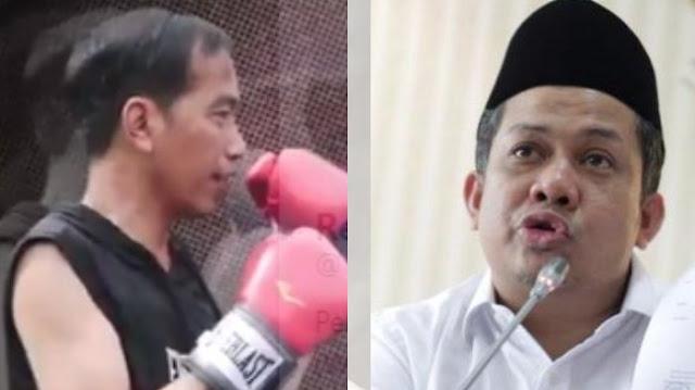 Komentar 'Nyeleneh' Fahri Hamzah Tanggapi Video Latihan Tinju Jokowi