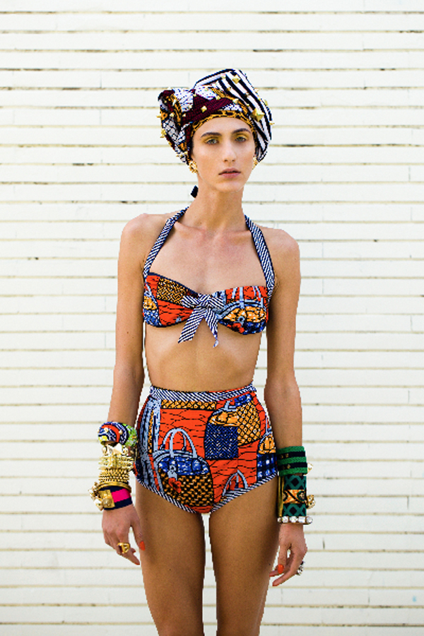 African print retro style Swimsuit - Stella Jean