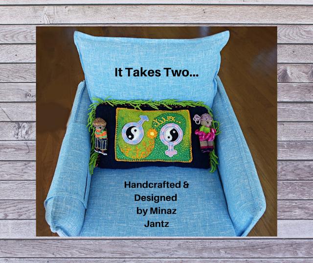 Proverb Pillow Talk, 'It Takes Two...' by Minaz Jantz