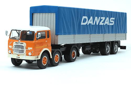 fiat 690 t1 1/43 danzas, coleção caminhões articulados altaya, coleção caminhões articulados planeta deagostini, coleção caminhões articulados 1:43