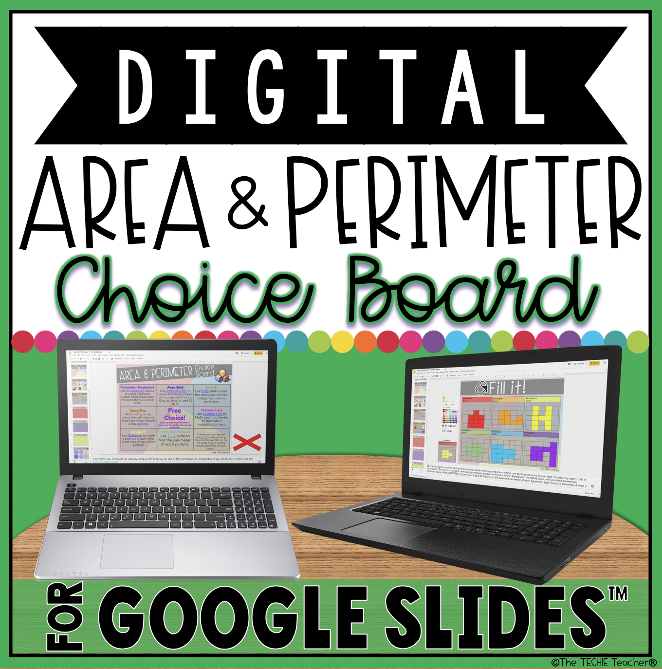 Digital Area and Perimeter Choice Board