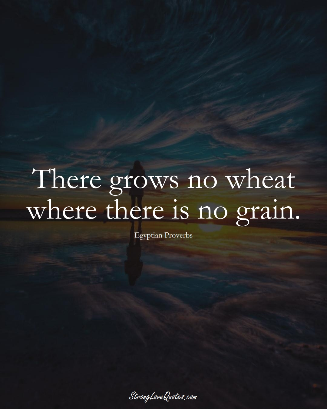 There grows no wheat where there is no grain. (Egyptian Sayings);  #MiddleEasternSayings
