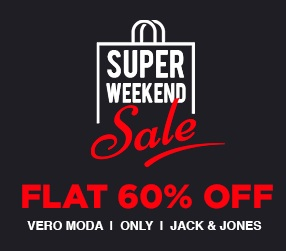 Flat 60% Off on Jack & Jones Men's Clothing | Vero Moda- Only Play & Only Women's Clothing @ Jabong