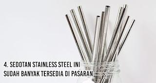 Sedotan Stainless Steel Ini Sudah Banyak Tersedia Di Pasaran merupakan salah satu alasan penting mengapa kita harus gunakan sedotan non-plastik