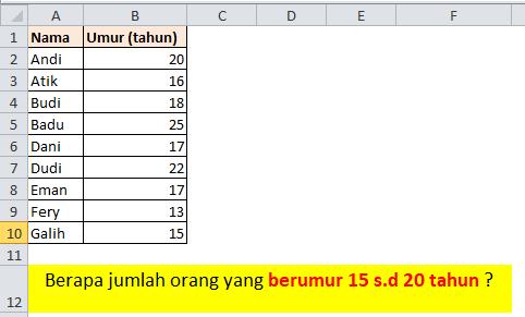 Contoh Soal Rumus Excel