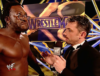 WWE / WWF Wrestlemania X8 - Michael Cole interviews Booker T