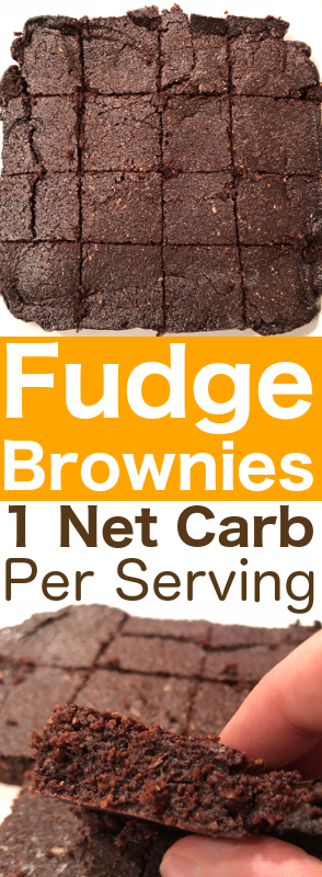 Really Fudgy Keto Brownies Chocolaty, Rich & Only 1 Net Carb #dessert #fudgy #keto #brownies #chocolate #rich #ony #1netcarb