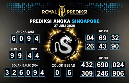Royal Prediksi SGP Senin 27 Juli 2020