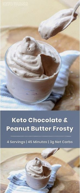 Keto Chocolate Peanut Butter Wendy's Frosty