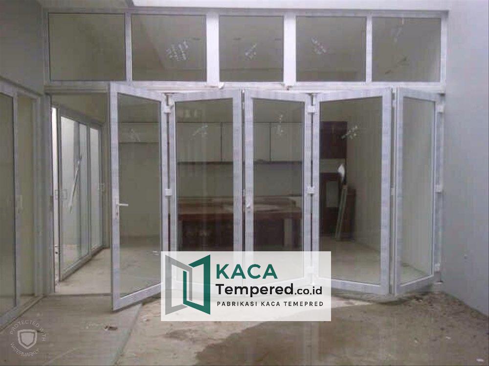 toko baja ringan kudus jual pintu lipat kaca 1 di pabrikasi tempered