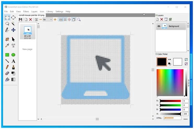 Greenfish Icon Editor :  Ισχυρό, δωρεάν  πρόγραμμα επεξεργασίας εικονιδίων