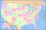 Mapa de (los) Estados Unidos
