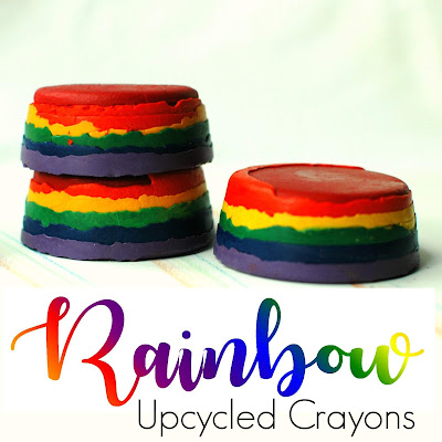 Fun & Easy Rainbow Upcycled Crayons Craft for Kids