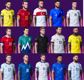 PES 2020 National Teams Kits Update 20-21 by Avif Avriadi