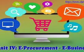 Unit IV: E-Procurement - E-Business