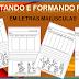 RECORTANDO E FORMANDO FRASES PARTE 2 - EM LETRAS MAIÚSCULAS - ALFABETIZAÇÃO