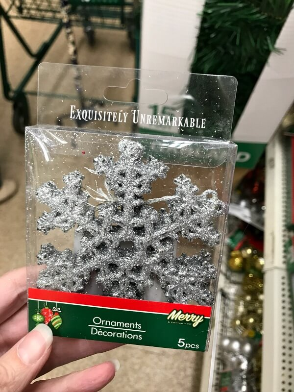 Dollar Store Snowflake Wreath Exquisitely Unremarkable