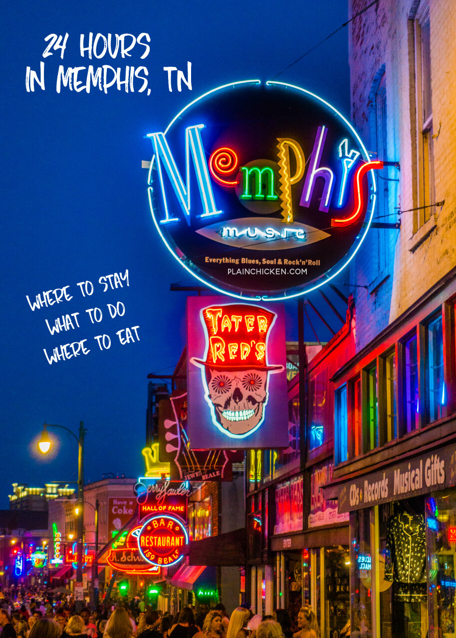 24-Hours in Memphis, TN - where to stay, where to eat and what to do! Gus' Fried Chicken , Bass Pro Shop, The Peabody Duck March, Huey's, Beale Street, Gibson Guitar Factory Tour, Central BBQ and The Westin downtown Memphis. #travel #memphis #memphistn