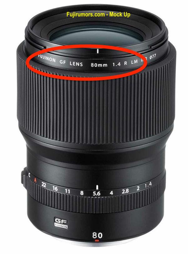 Возможный вариант внешнего вида объектива Fujinon GF 80mm f/1.4