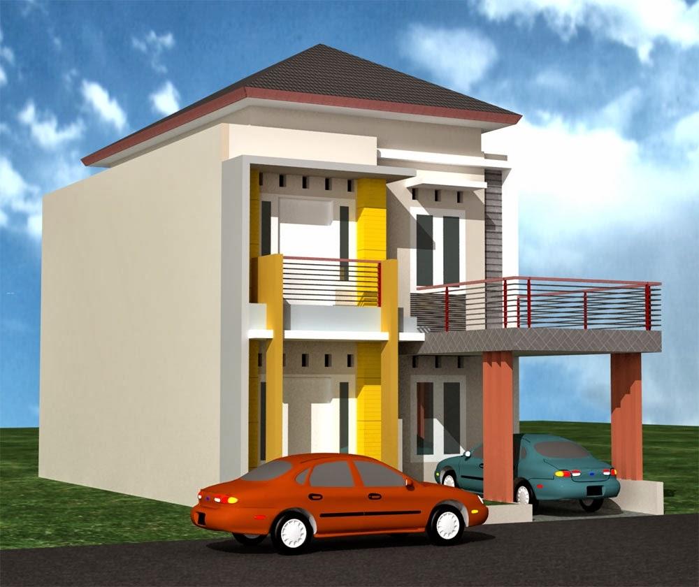 Desain Rumah Minimalis Pinggir Jalan Denah Rumah