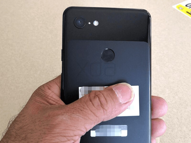 Alleged Back of the Google Pixel 3 XL