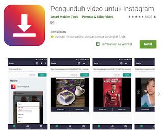 Download video, Aplikasi, Pengunduh video untuk instagram