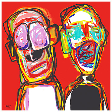 art prints, art print, art, artwork, artist, original art print, buy art prints, buy art, art print gallery, online art gallery, Sam Freek, Double Trouble,