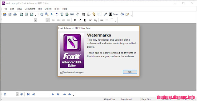 Download Foxit Advanced PDF Editor 3.10 Full crack - Chỉnh sửa file PDF