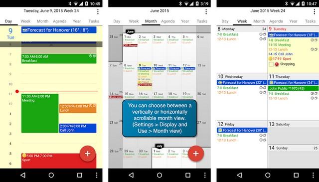 أفضل تطبيق التقويم لتنظيم الوقت للاندرويد