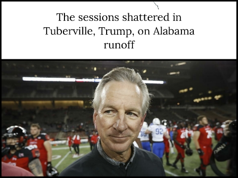 The sessions shattered in Tuberville, Trump, on Alabama runoff