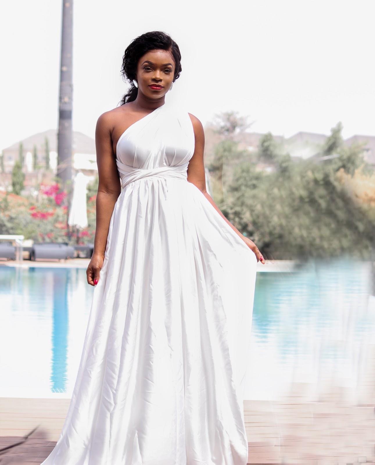 MULTI-WAY MAXI DRESS - Porshher White Multi-Way Maxi Dress