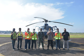 Kapolda Jambi bersama Danrem 042 Gapu Laksanakan Patroli Karhutla melalui Udara