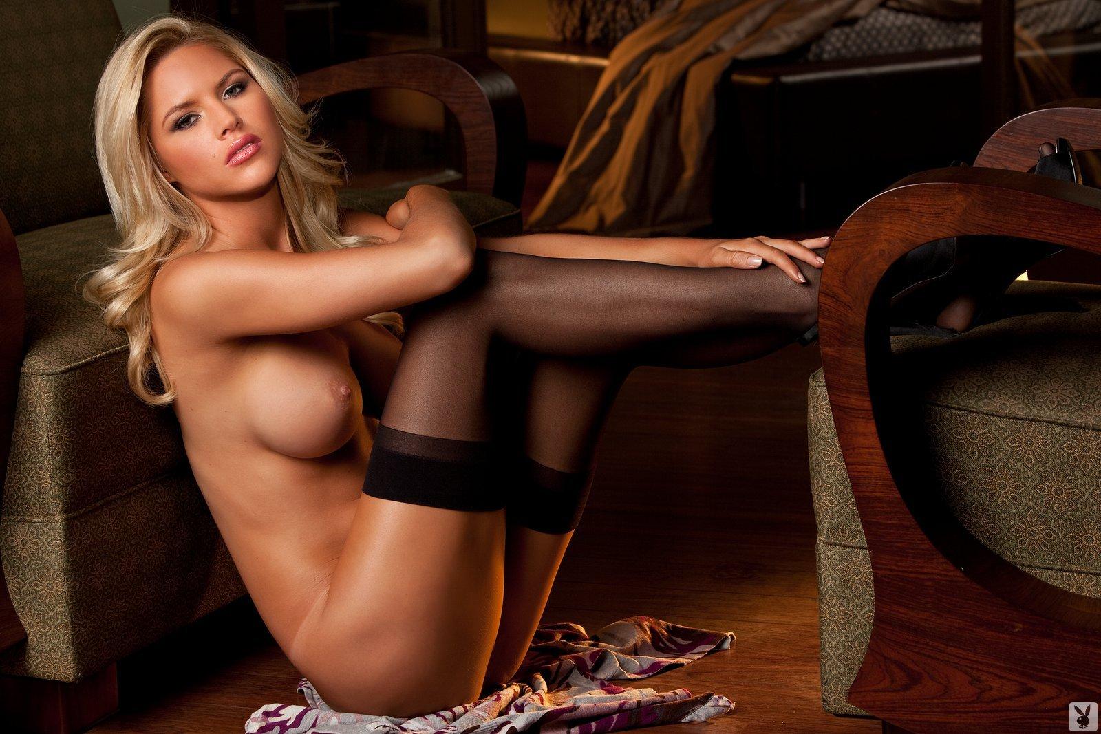 Блондинка в колготках голая фото — pic 11