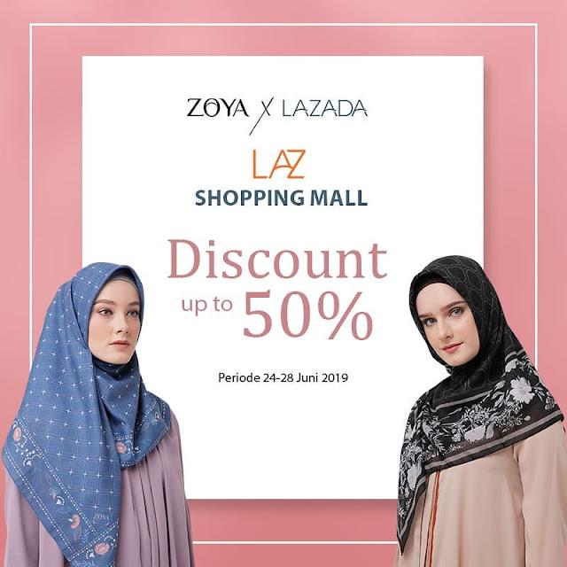 #Zoya - #Promo Diskon 50% di LAZADA Official (s.d 28 Juni 2019)