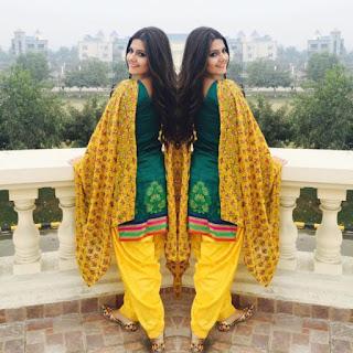 Tanvi Nagi in Punjabi Suit