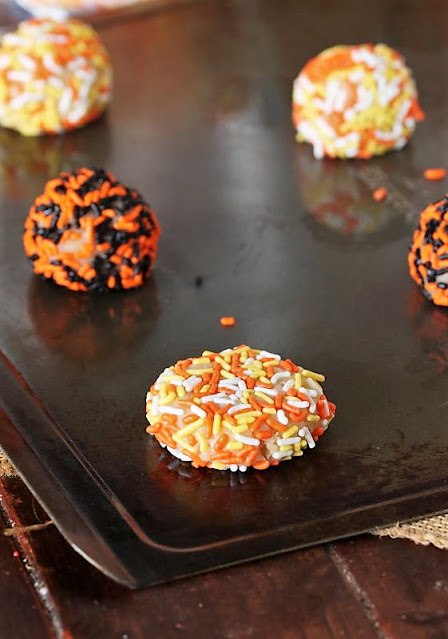 Flattened Halloween Sprinkle Sugar Cookies Dough Ball Image