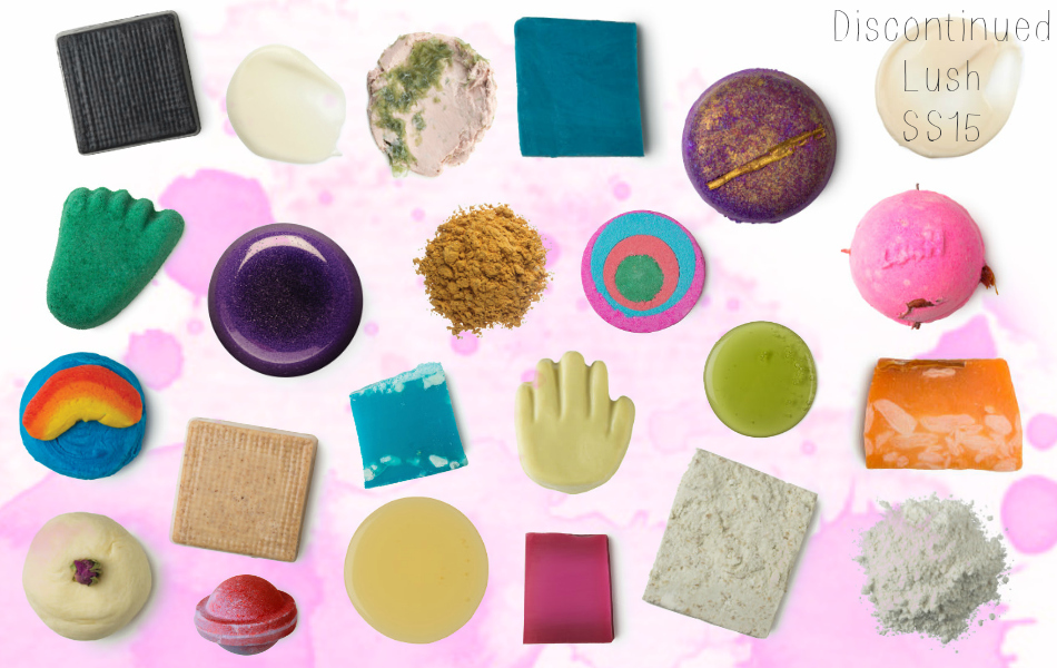 an image of discontinued lush products 2015