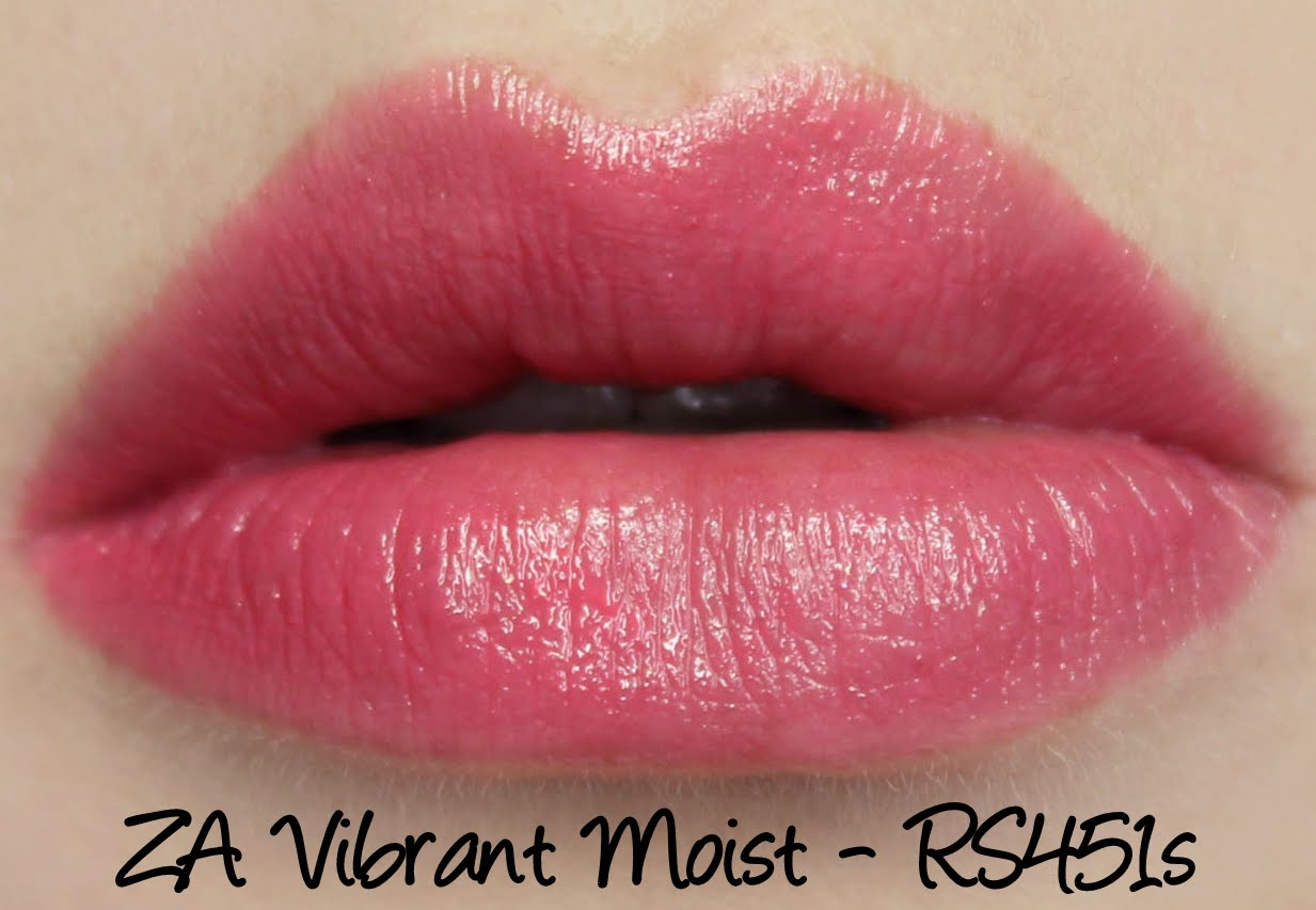 ZA Vibrant Moist Lipstick - RS451s swatches & review