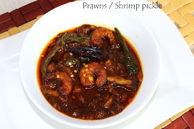 PRAWNS PICKLE PRAWNS RECIPES KERALA STYLE PICKLE