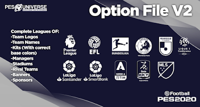 eFootball PES 2020 PS4 PESUniverse Option File V2
