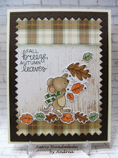 Fall breeze, autumn leaves by Andrea W. features Autumn Mice by Newton's Nook Designs; #newtonsnook