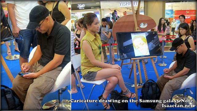 Caricature Artists at Samsung Galaxy Note Studio Roadshow