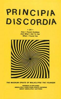 Capa do livro Principia Discordia, dos autores Kerry Wendell Thornley e Malaclypse the Younger