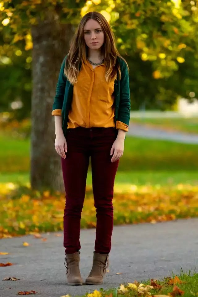 yellow with burgundy outfit ideas for girls