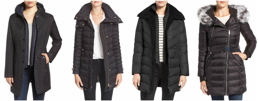 One of these hooded coats is from Burberry for $1,150 and the other three are under $100. Can you guess which one is the designer coat? Click the links below to see if you are correct!