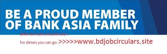 Bank Asia Job circular 2017