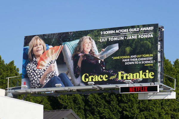 Grace and Frankie season 4 SAG Award nominee billboard