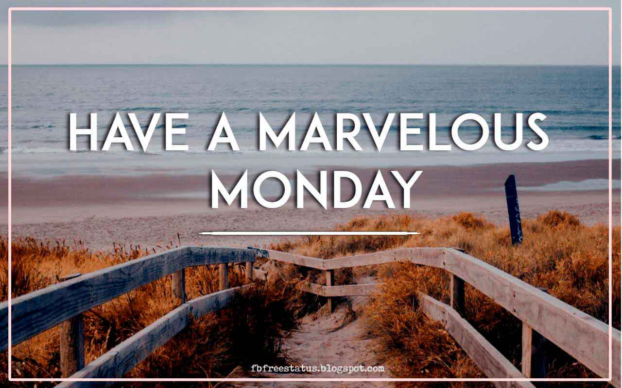 Have a marvelous Monday!