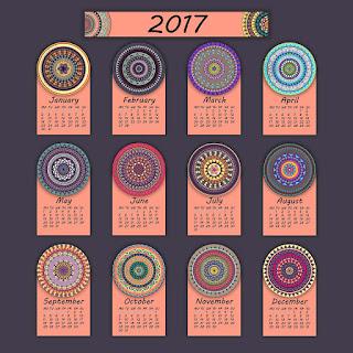 2017カレンダー無料テンプレート98