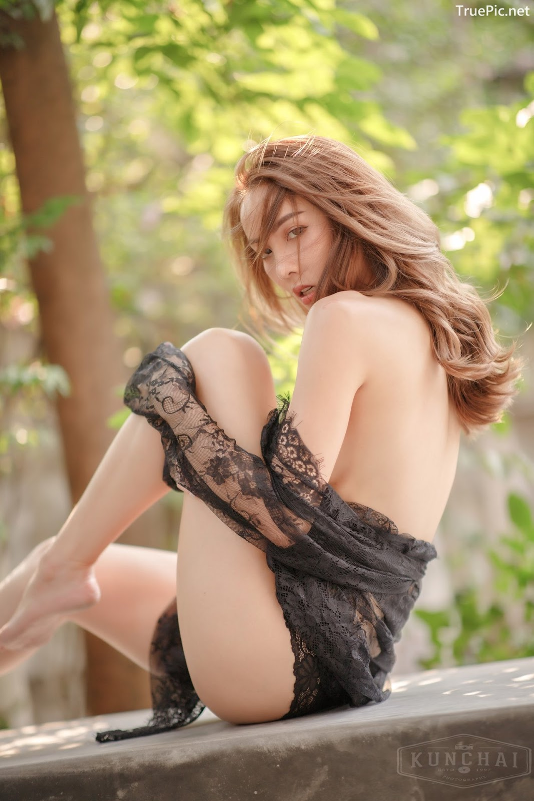 Image Thailand Sexy Model - Soraya Upaiprom - Black Lace Lingerie - TruePic.net - Picture-3